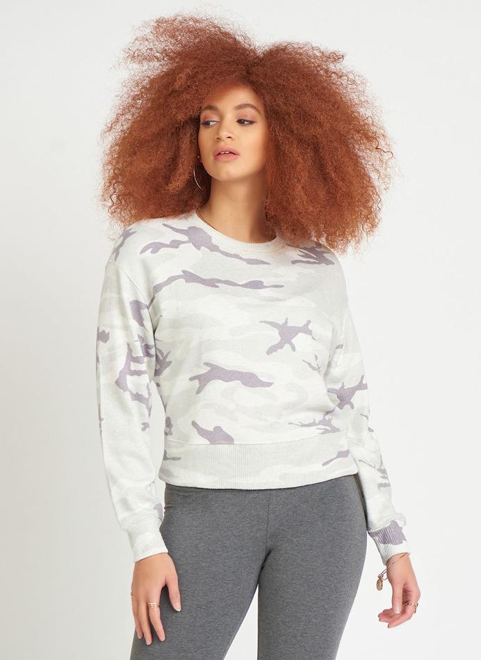 Grey Camo Sweater