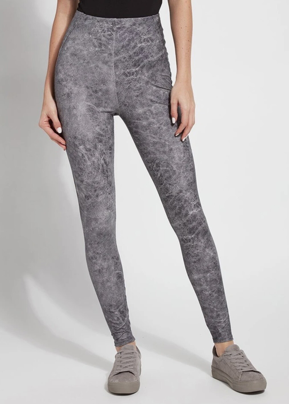Grey Foil Legging