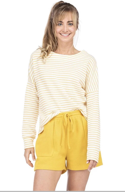 Yellow Stripe Pullover