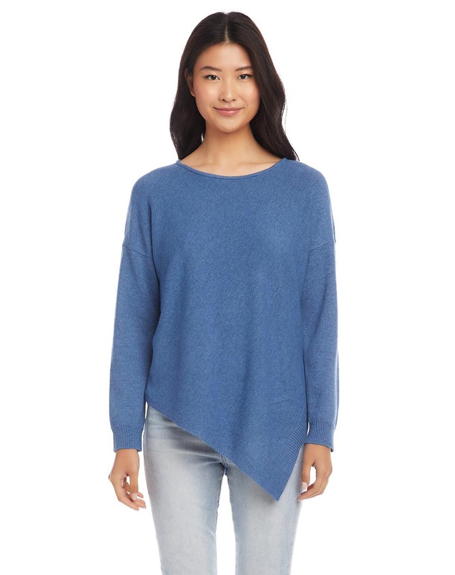 Blue Assym. Hem Sweater