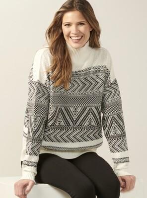 Knit Aztec Pullover