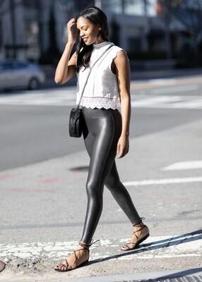 Petite Faux-Leather Legging