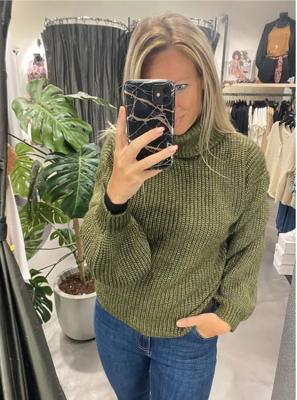 Olive Lurex Sweater