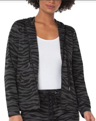 Zebra Hooded Zip Jacket
