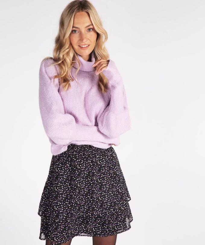 Lilac High-Cuff Sweater