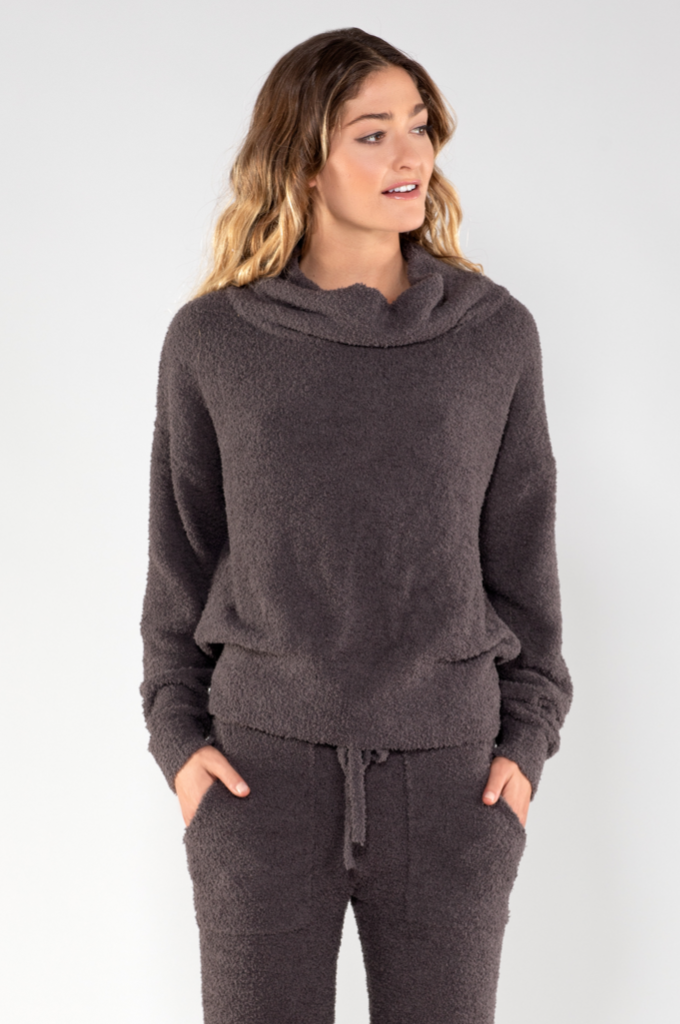 Fuzzy Tunnel Neck Pullover