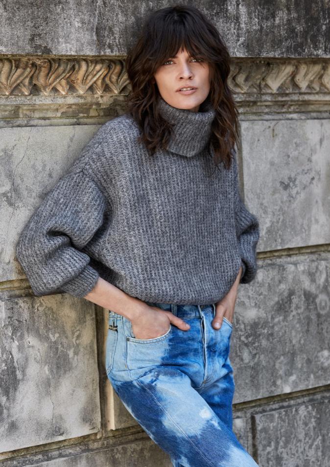Charcoal Turtleneck Sweater