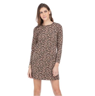 Leopard Knit Pocket Dress