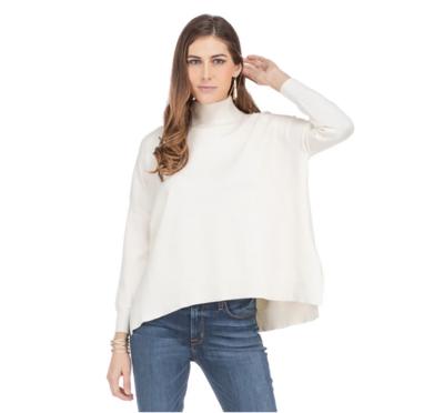 Cream Mock Neck Pullover