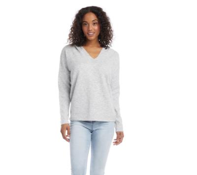 Lt. Grey Hooded Sweater