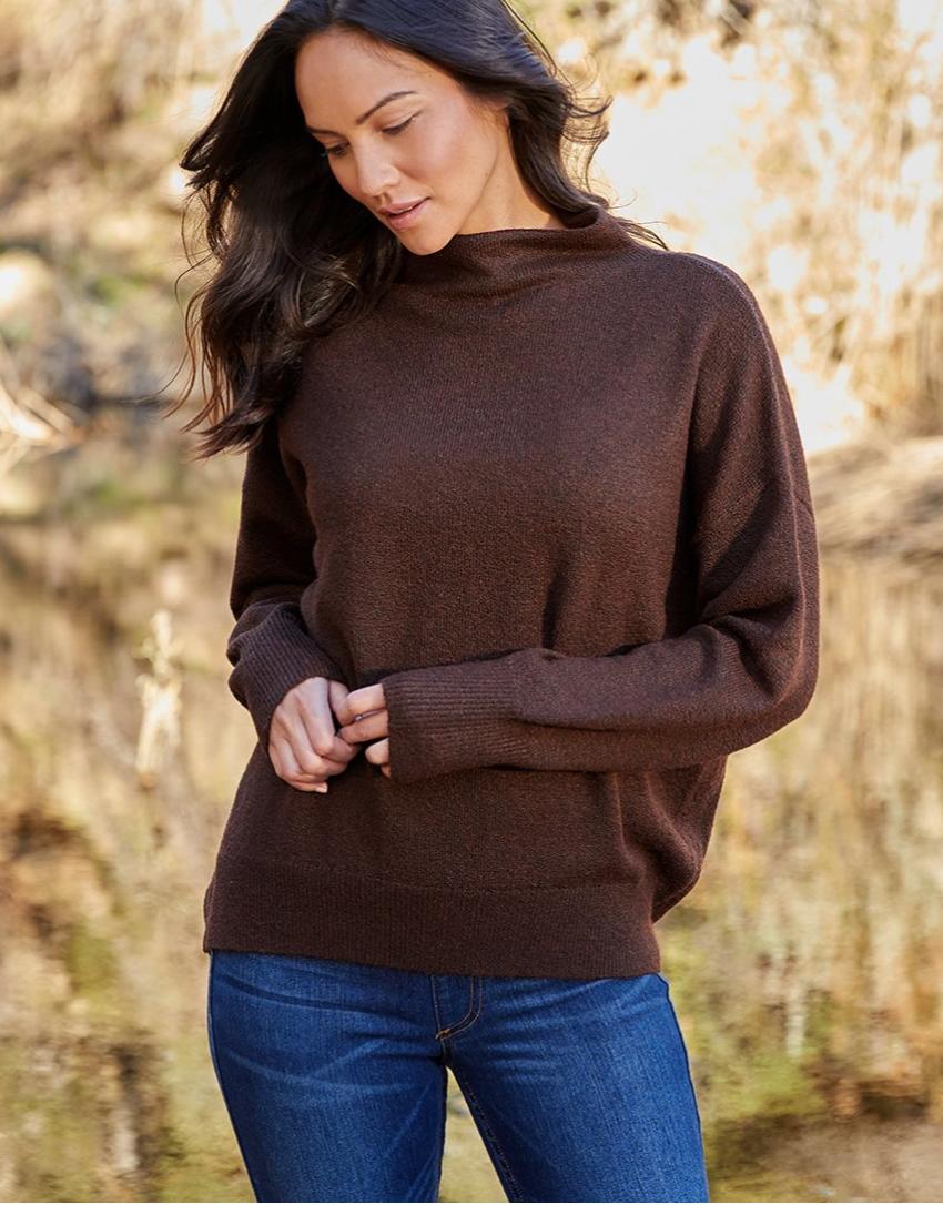 Espresso Mock Neck Sweater
