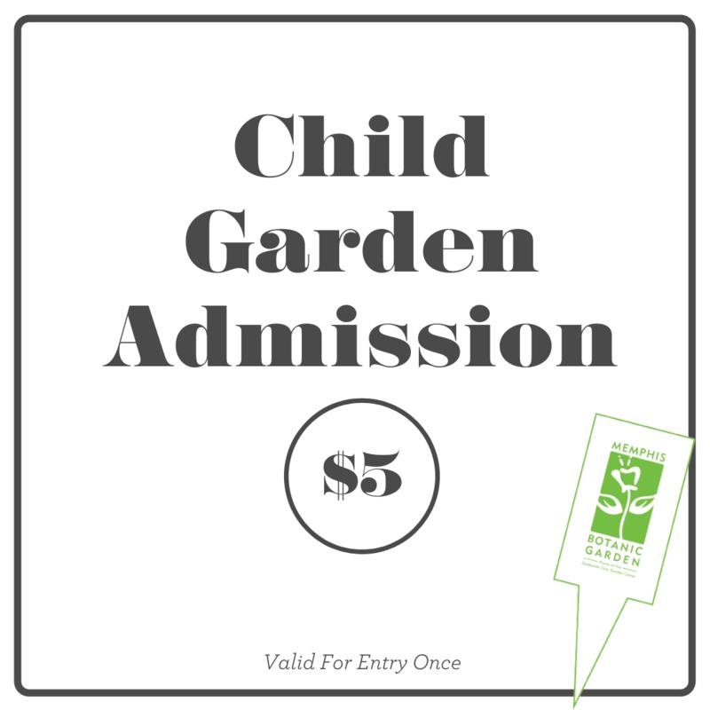 Garden Admission- Child
