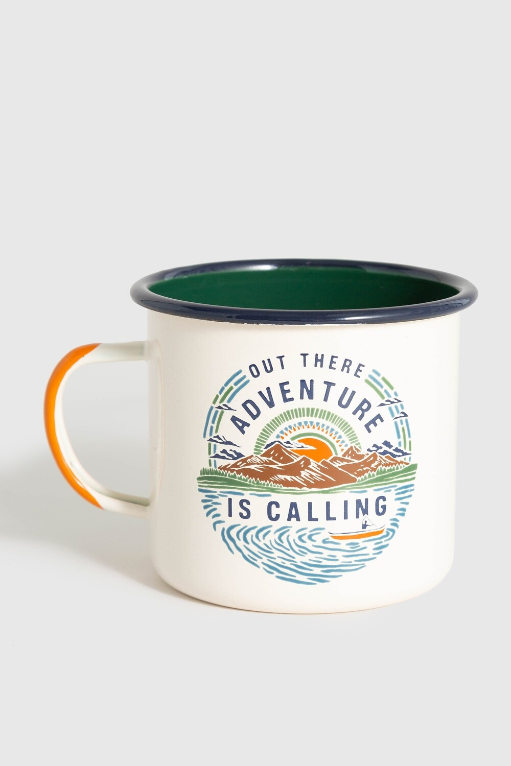 ADVENTURE 12 OZ STEEL ENAMEL MUG