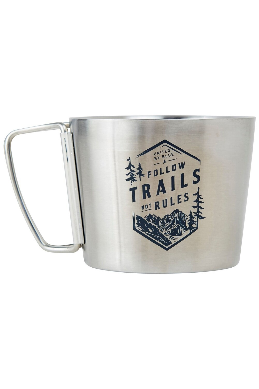 TRAILS 12 OZ STAINLESS STEEL COMPASS CUP