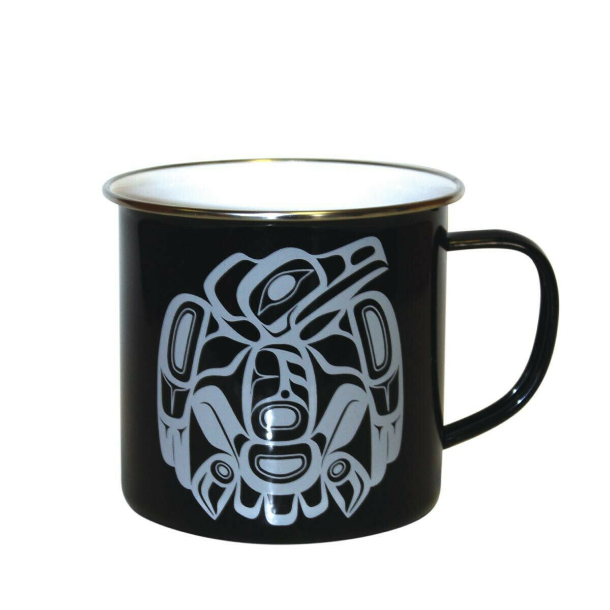 14 OZ RAVEN ENAMEL MUG - NATIVE NORTHWEST