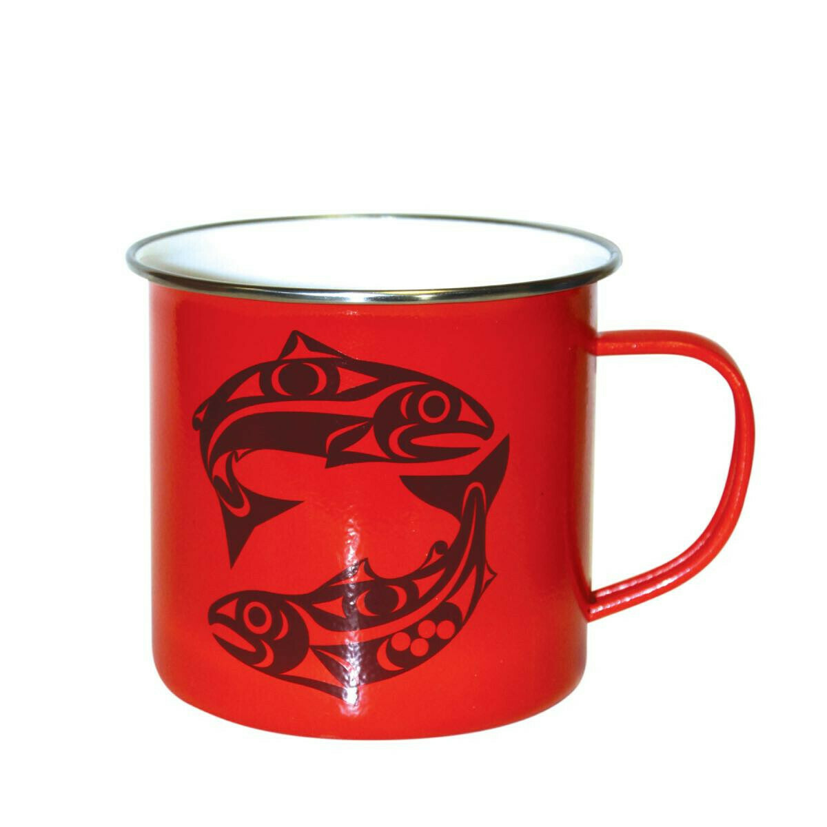 14 OZ SALMON ENAMEL MUG - NATIVE NORTHWEST