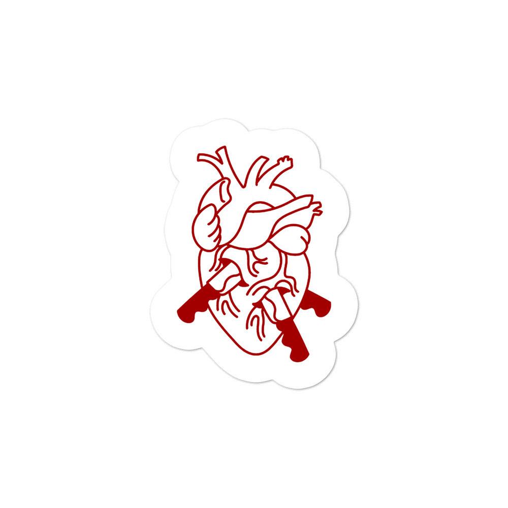 Heart - Kiss Cut Sticker