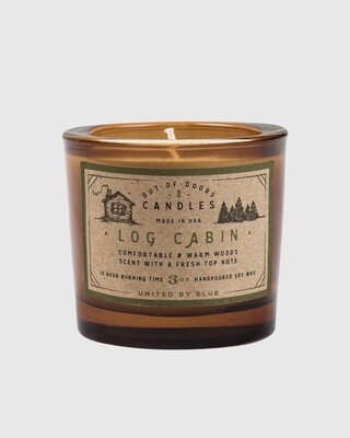 Log Cabin – 3 Oz Candle