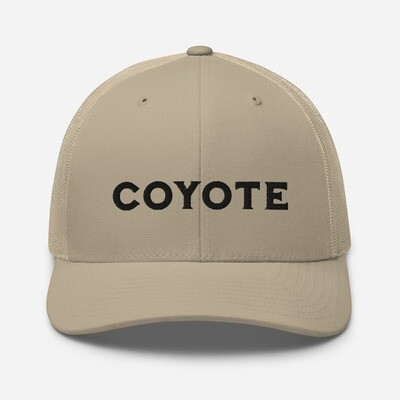 Coyote Lettering – Retro Trucker Cap