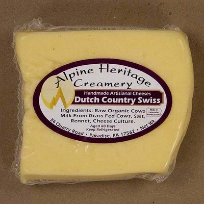 Organic Dutch Country Swiss from Alpine Heritage