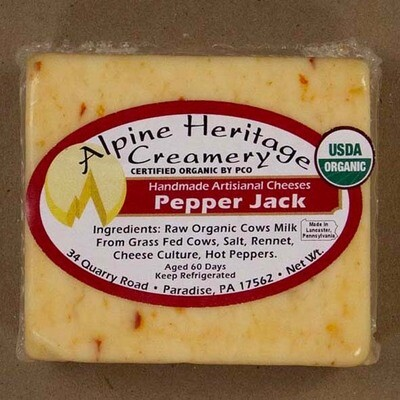 Organic Pepper Jack from Alpine Heritage