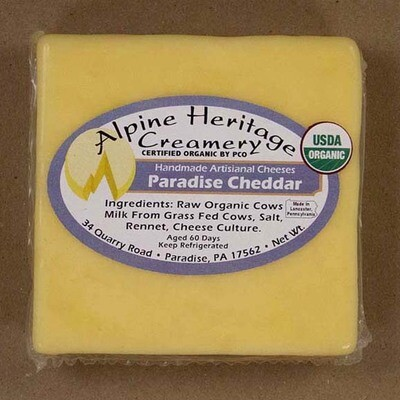 Organic Paradise Cheddar from Alpine Heritage
