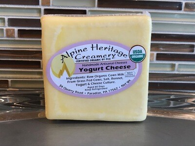 Organic Yogurt Cheese from Alpine Heritage