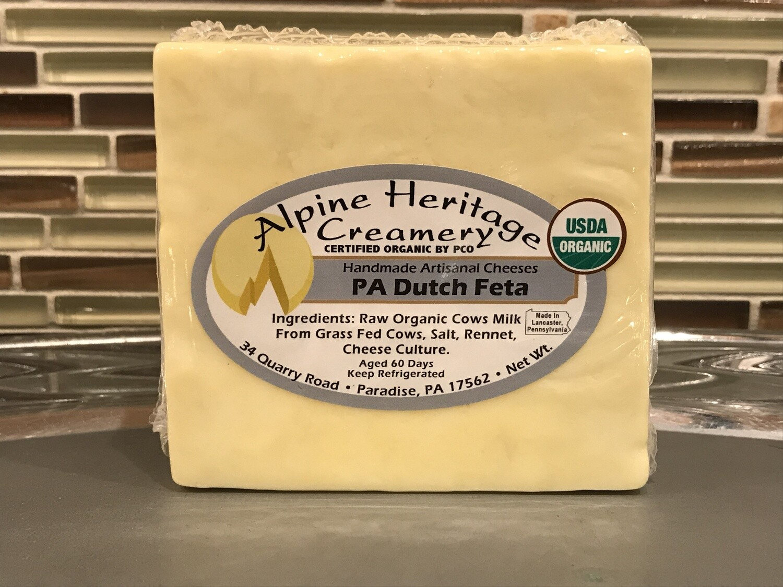 Organic PA Dutch Feta from Alpine Heritage