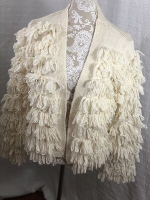 50 Lumiere beige small cardigan sweater NEW womens size small 040420