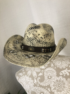 1277 Run a Muck NWT new hat 2586 texas ranch natural cowboy hat womens small beige/brown 081920