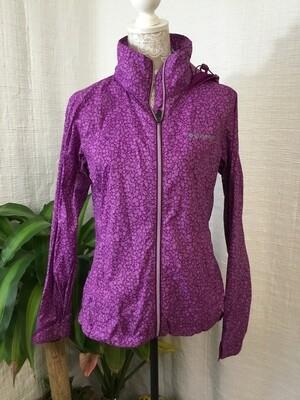 1135 columbia purple medium rain jacket womens