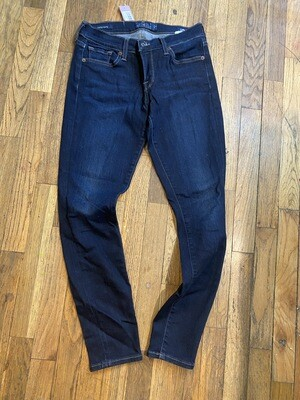 976 lucky brand dark wash women skinny jeans size 4/27 082720
