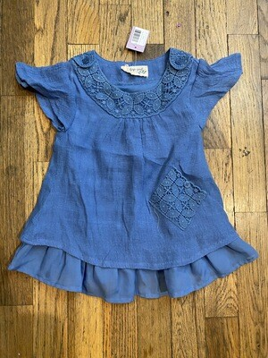 1190 indigo soul kids 2T blue short sleeve dress girls 081420