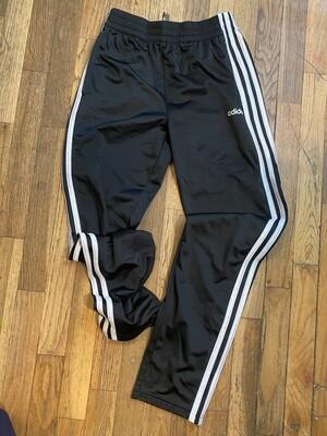 979 black white stripped adidas boys active pants size 14/16 082820