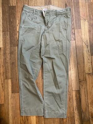 25 banana republic green womens distressed chino pants size 2 090120