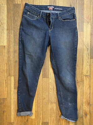 734 denizen dark wash modern skinny womens jeans size 12 082720