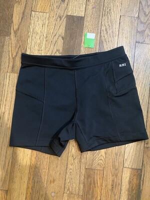 1244 REI black active short shorts size medium