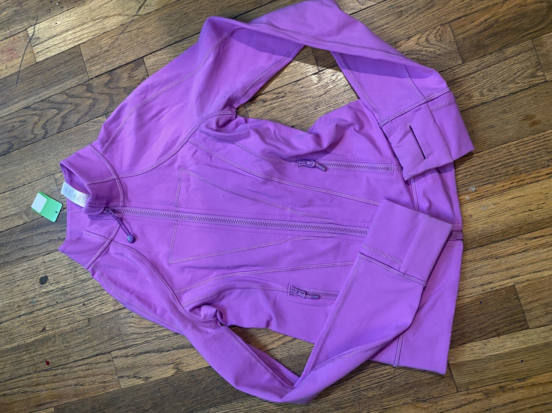 1238 iviva light purple size 10 girls full zip jacket