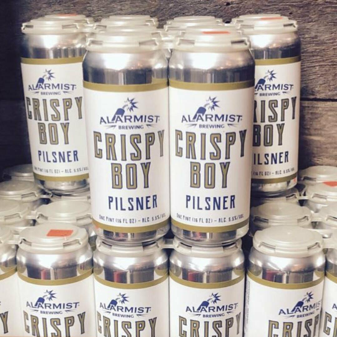 Alarmist Crispy Boy Pilsner 16 FL. OZ. 4PK Cans