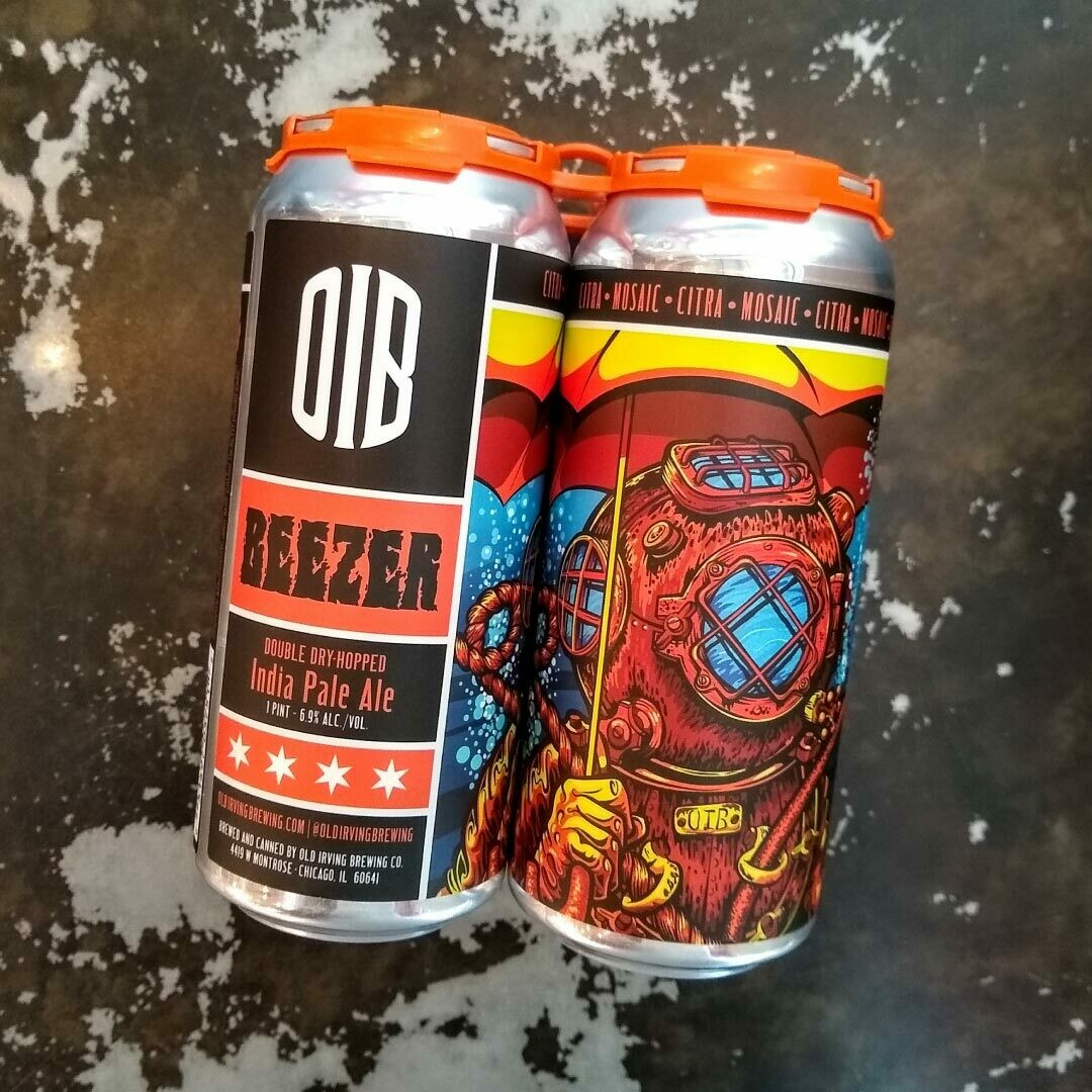 Old Irving Beezer DDH IPA 16 FL. OZ. 4PK Cans