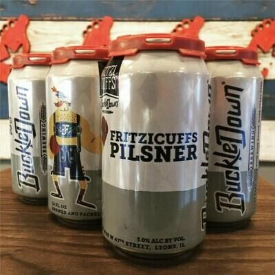 BuckleDown Fritzicuffs Pilsner 12 FL. OZ. 6PK Cans