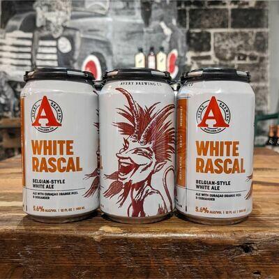 Avery White Rascal Belgian White Ale 12 FL. OZ. 6PK Cans
