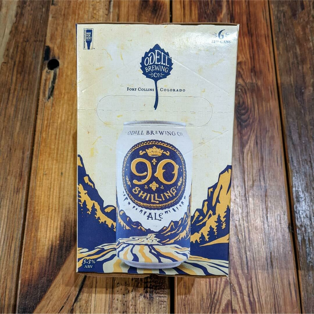 Odell 90 Shilling Ale 12 FL. OZ. 6PK Cans