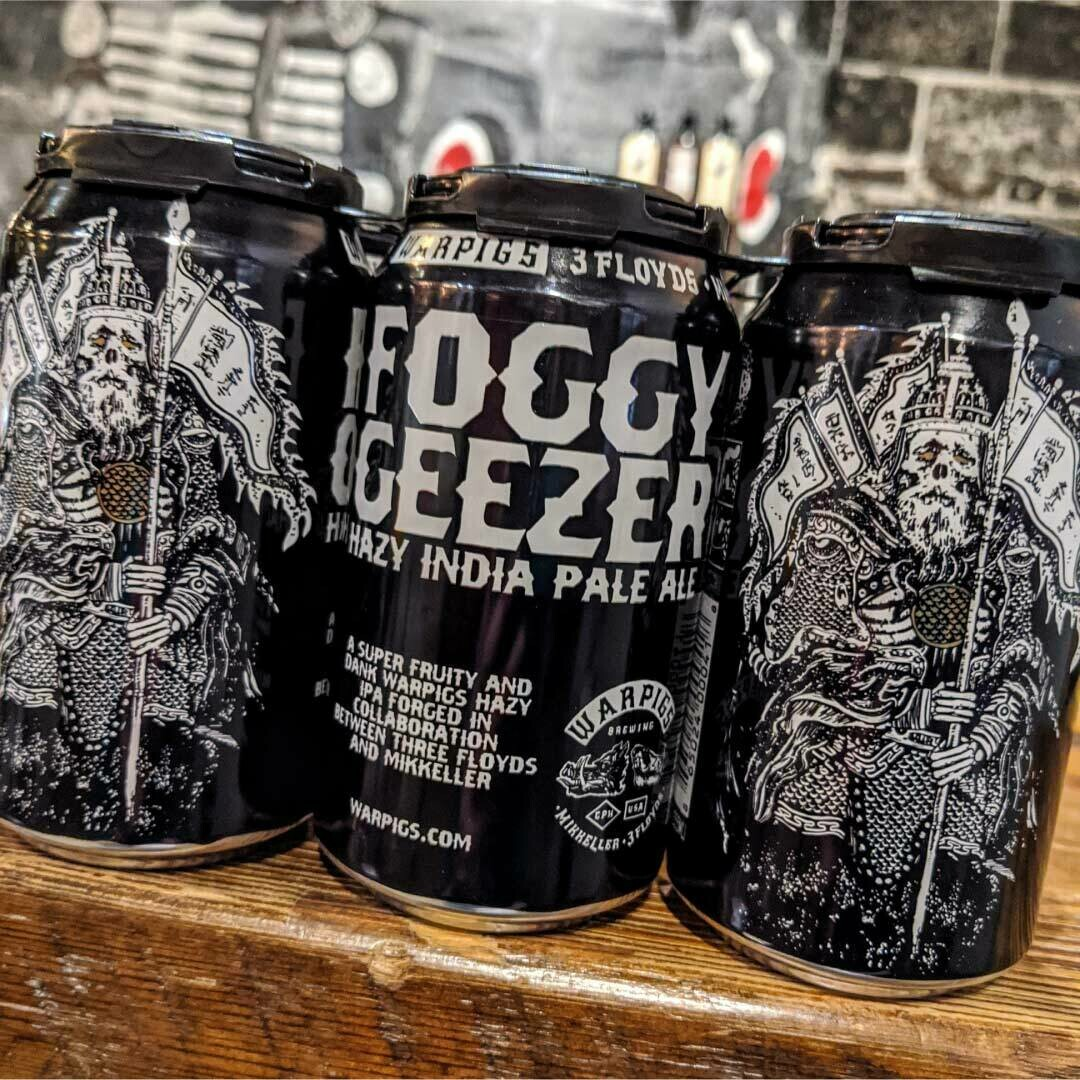 War Pigs Foggy Geezer Hazy IPA 12 FL. OZ. 6PK Cans