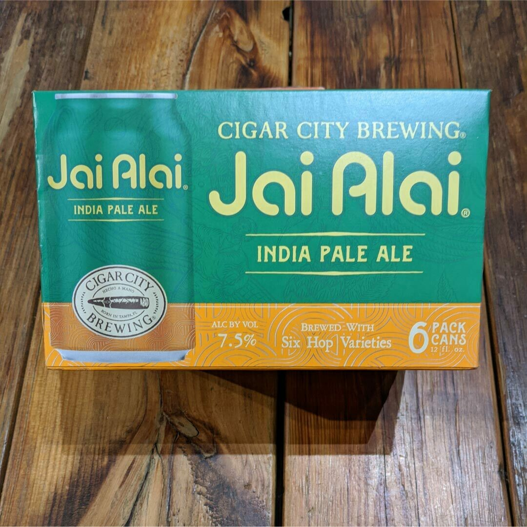Cigar City Jai Alai IPA 12 FL. OZ. 6PK Cans