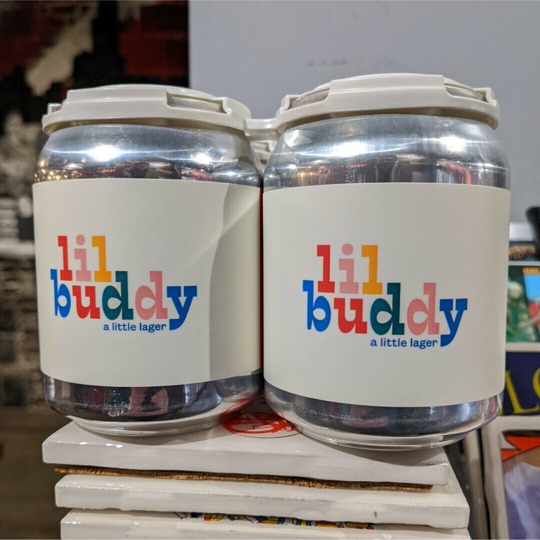 Hopewell Lil Buddy Lager 8 FL. OZ. 4PK Cans