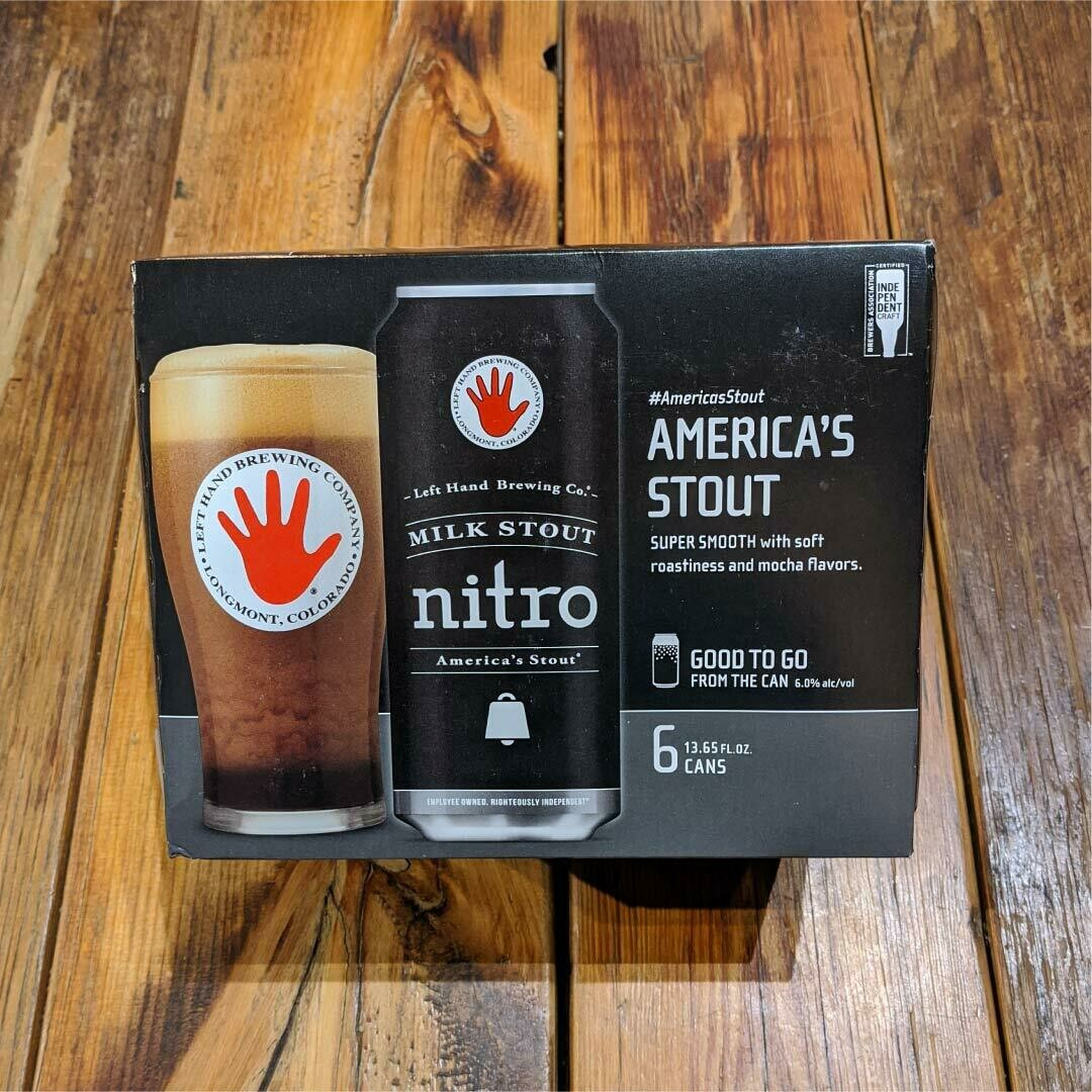 Left Hand NITRO Milk Stout 13.65 FL. OZ. 6PK Cans