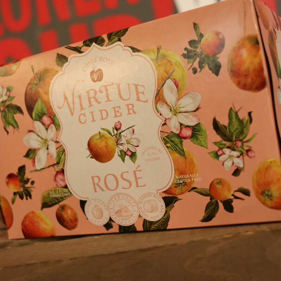 Virtue Rose Cider 12 FL. OZ. 6PK Cans