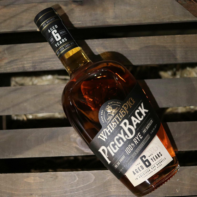 Whistle Pig Piggy Back Rye Whiskey 750ml.