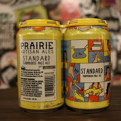 Prairie Standard Hoppy Farmhouse Ale 12 FL. OZ. 4PK Cans